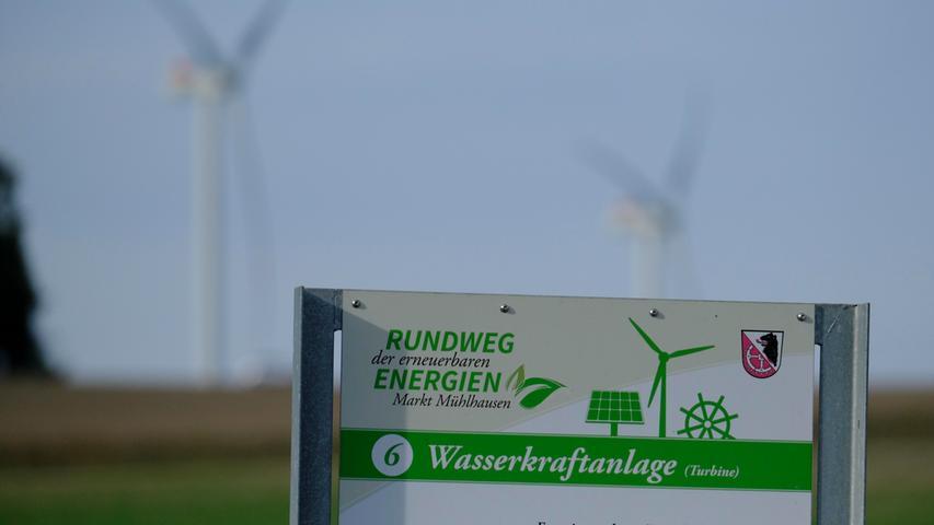 Wasserkraftanlage (Turbine) am Albach, der in die Reiche Ebrach fließt.