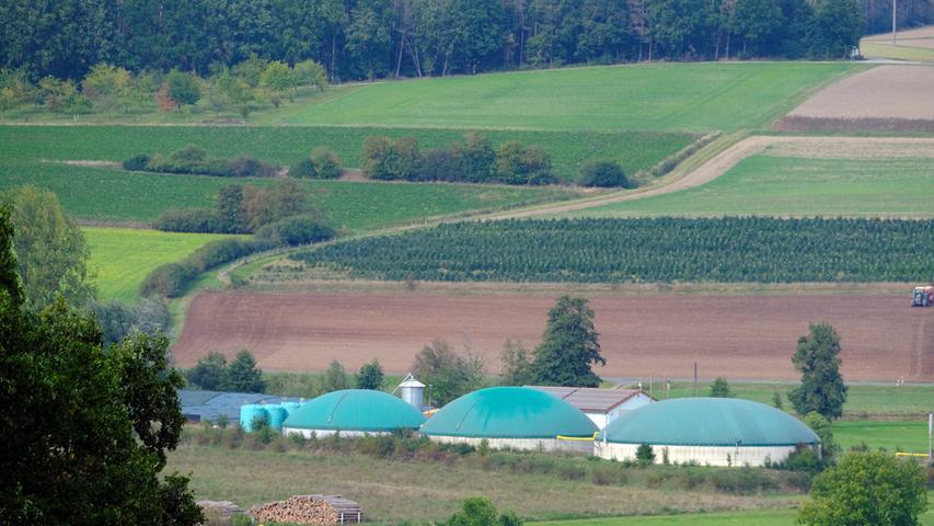 Die Biogasanlage bei Simmersdorf.