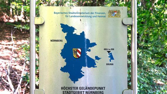 Hoch hinaus: In Brunn liegt Nürnbergs höchster Punkt auf 408,4 Metern.