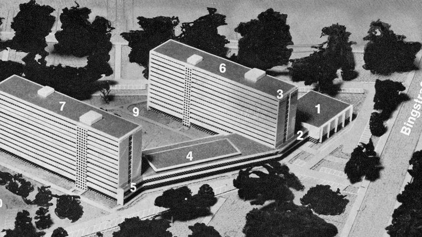 Grundstein für ein neues Altenwohnstift am Nürnberger Tiergarten wird gelegt. Hier geht es zum Artikel vom 14. November 1970:Ein Heim für tausend alte Bürger.