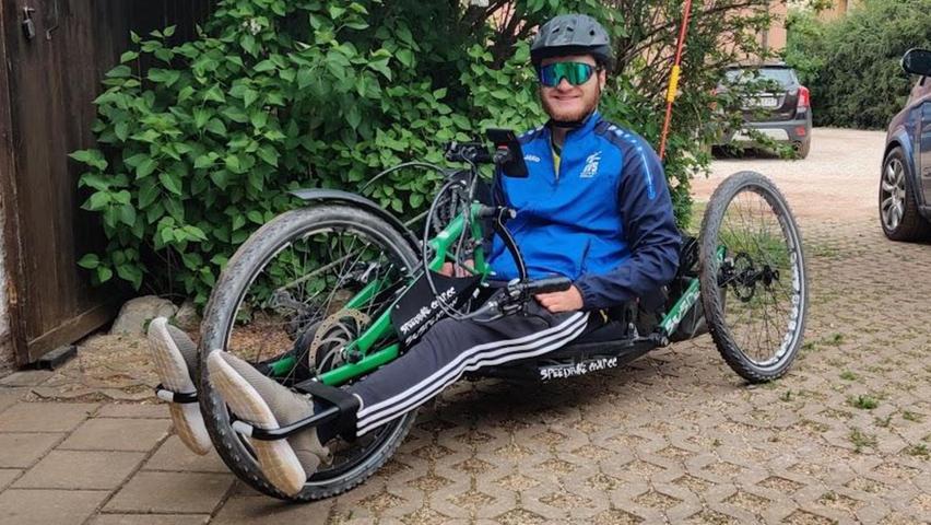 Mit dem Handbike, sprich einem Liegerad, hat Lukas Gloßner im Jahr 2020 exakt 3398 Kilometer zurückgelegt.