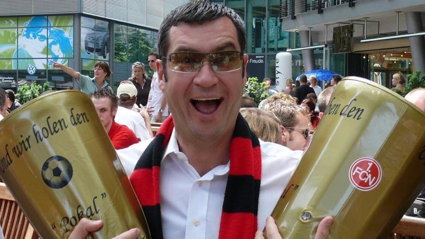 Der Pokalsieg vom 1. FC Nürnberg 2007 war Söders