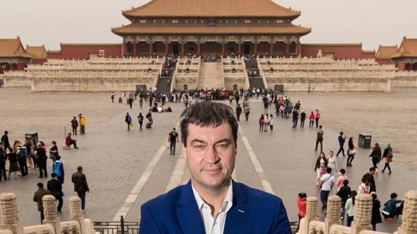 War Söder hier wirklich in China oder ist das etwa Photoshop? Der Beitrag wurde am 2. April 2015 hochgeladen.