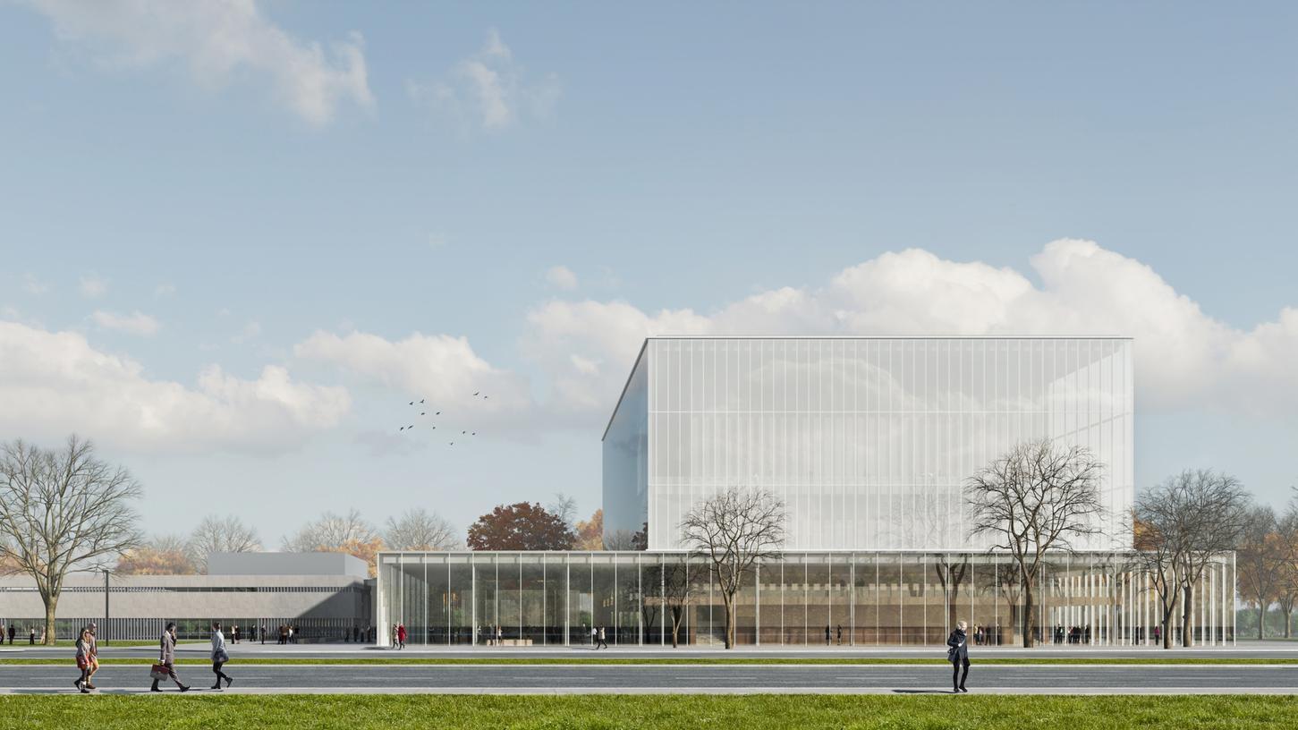So hätte es aussehen sollen, das neue Konzerthaus für Nürnberg. Eigentlich sollte 2021 Baubeginn sein...