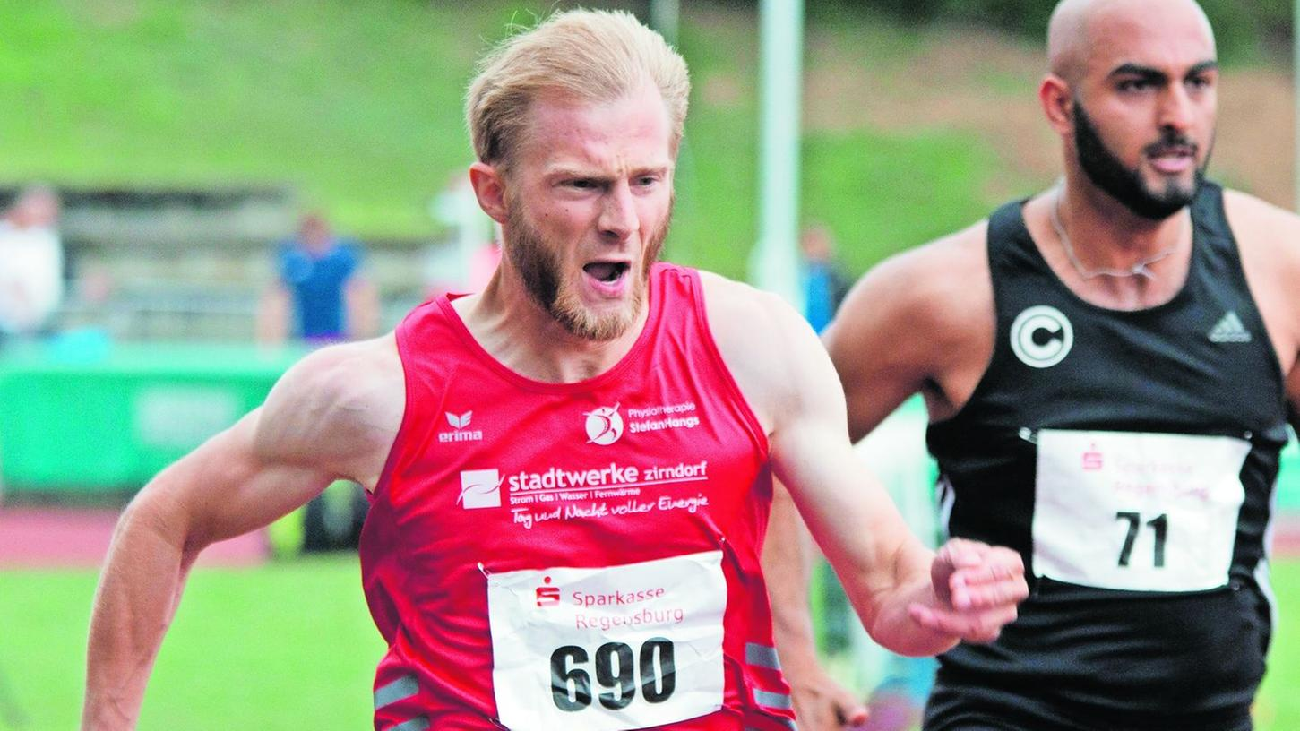 Marcus Grun ist der schnellste Mann Zirndorfs. Er läuft die 100 Meter unter elf Sekunden.