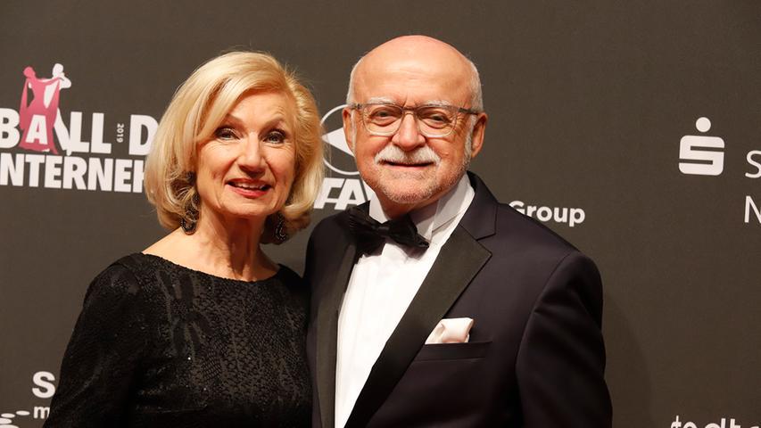 Nürnbergs Kulturreferentin Julia Lehner mit ihrem Mann, Unternehmer Gerd Schmelzer, 2019.