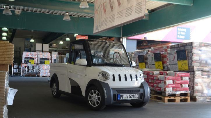 Das eigentliche Spezialgebiet von Ari Motors sind leichte Elektrotransporter. Das Bild zeigt die Pritsche (ab 11.700 Euro netto), auch ein Kofferaufbau und ein Kipper sind erhältlich.