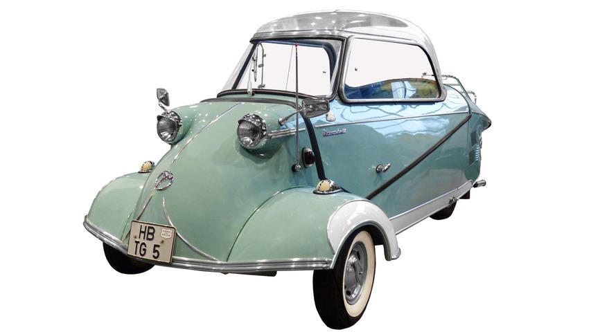 Auch der Messerschmitt Kabinenroller gehörte zu den sogenannten Rollermobilen. 1957 lief die Serienproduktion in Regensburg an.