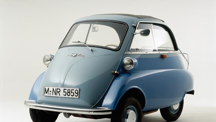 So sah das Original aus: Die BMW Isetta wurde von den Bayerischen Motorenwerken im Zeitraum zwischen 1955 und 1962 gebaut.