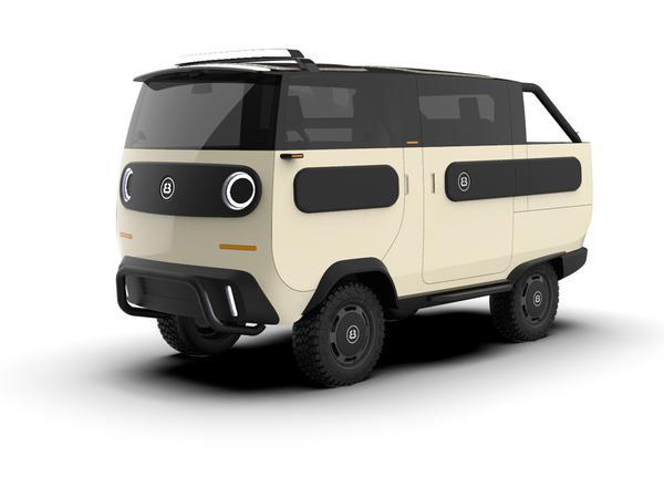 Vielseitig: In allerlei Versionen soll 2021 der eBussy vorfahren, hier in seiner Rolle als Offroad-Kleinbus.