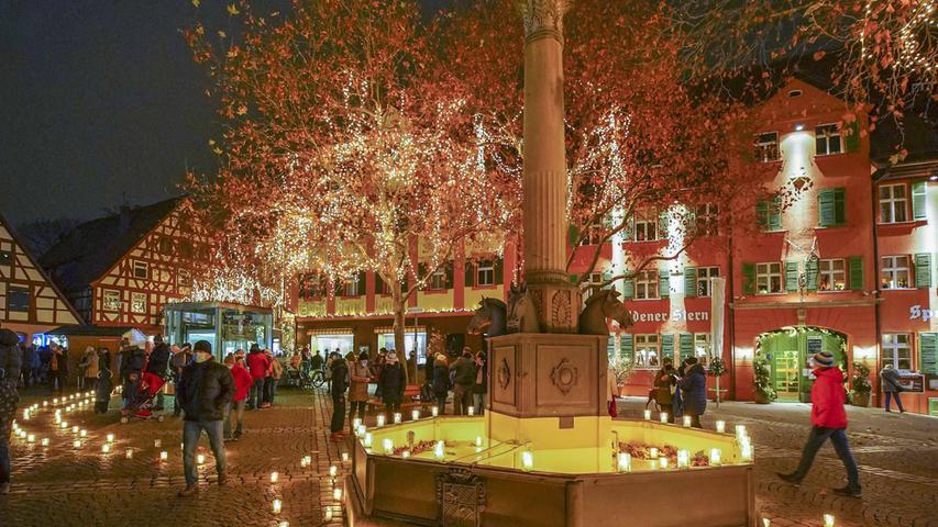 Schwabach glänzt im Advent 2020.Foto Salvatore Giurdanella