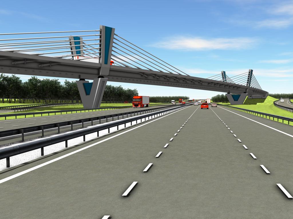 Foto: Autobahndirektion Nordbayern Motiv: Visualisierung Overfly, Autobahnkreuz Nürnberg-Ost, A9, A6