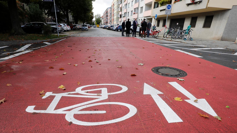 Die erste Nürnberger Fahrradstraße entstand 2019 am Rennweg.