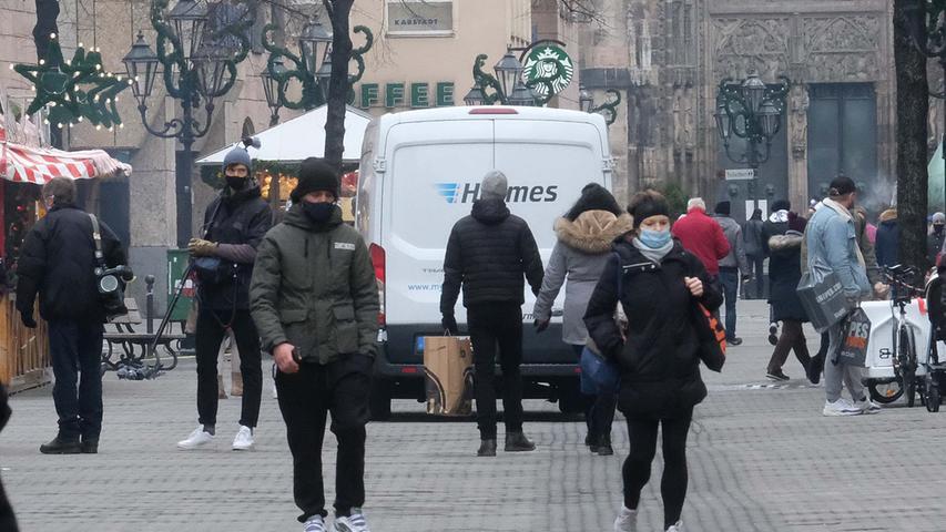 Adventsshopping trotz Corona? So sah es in der Nürnberger Innenstadt aus
