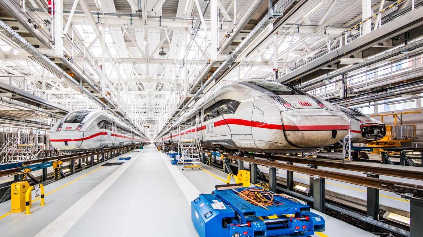 Unser Foto zeigt das Ausbesserungswerk in Köln-Nippes. Im geplanten Werk in Nürnberg sollen die ICE möglichst schnell auf Trab, sprich: auf die Schienen, gebracht werden.