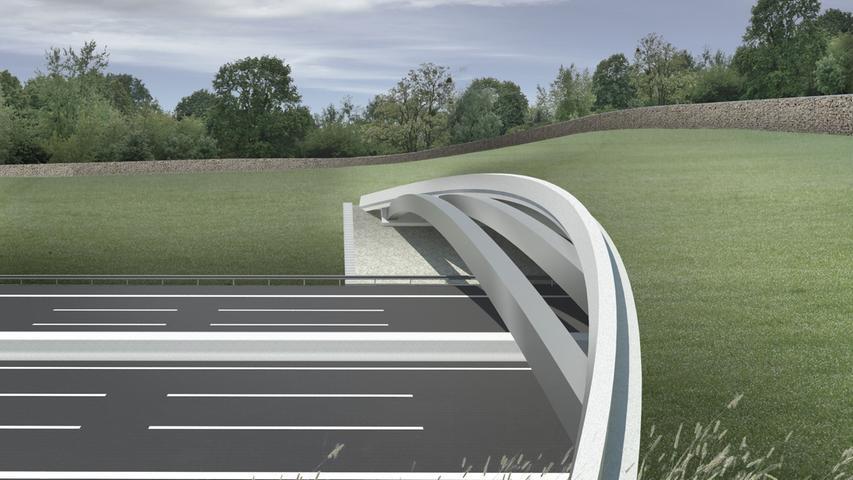 Auch zwei Grünbrücken über die A3 werden ab dem Jahr 2021 errichtet. Hier sollen Wildtiere gefahrlos die Autobahn überqueren können. Eine Grünbrücke wird das durch die Fernstraße getrennte Waldgebiet Mönau nordwestlich von Erlangen wieder verbinden, eine weitere Wildbrücke entstehen zwischen Geiselwind und Wiesentheid.