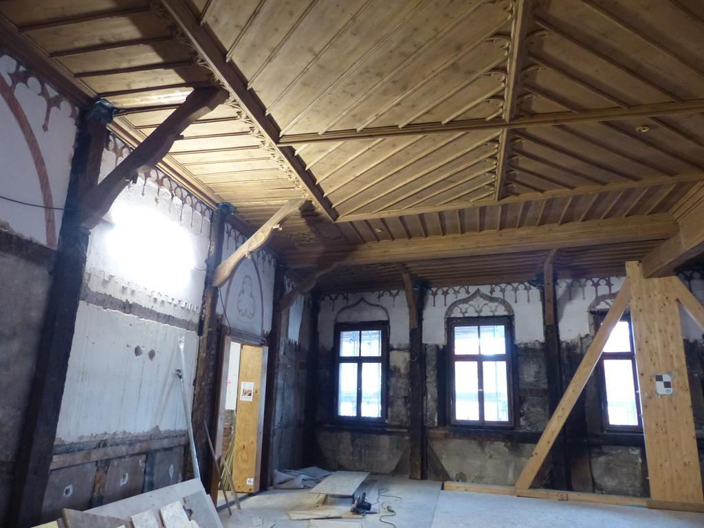 Sanierung Rathaus Forchheim, Rundgang, Obergeschoss Bohlenstube..08.12.20....Foto: Pauline Lindner