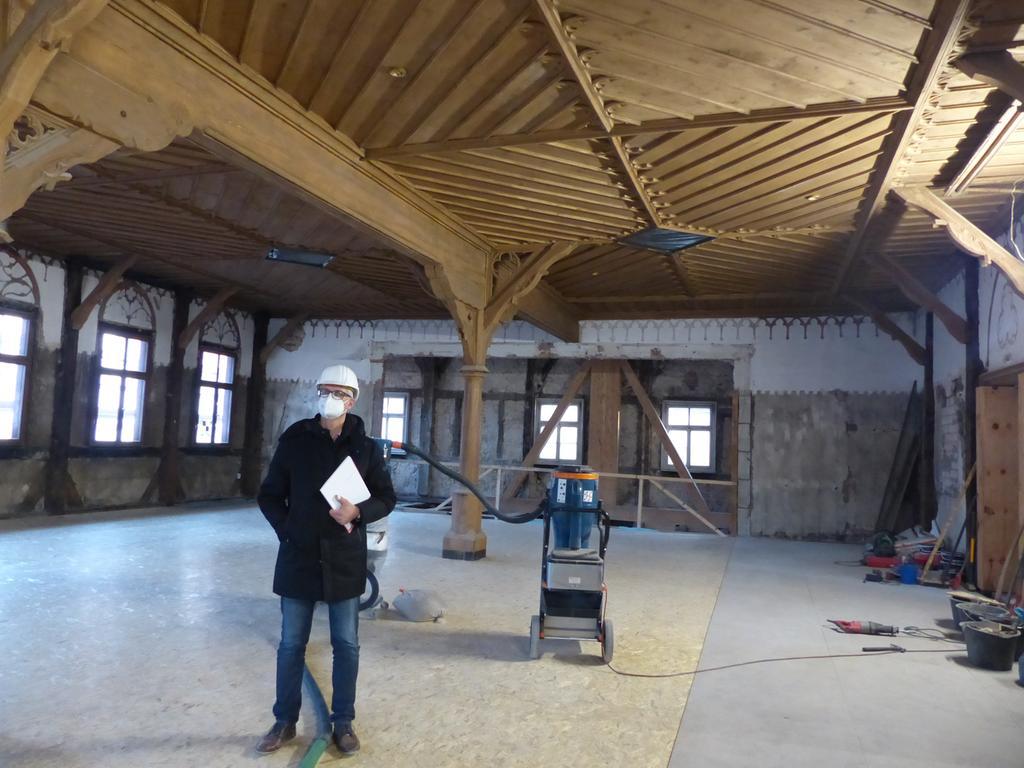 Sanierung Rathaus Forchheim, Rundgang, Großer Saal..08.12.20....Foto: Pauline Lindner