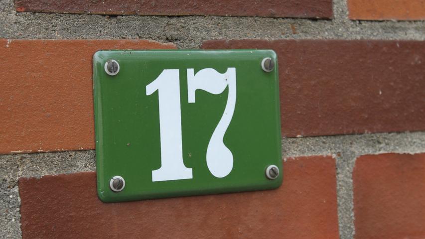 Forchheimer Hausnummern Schilder Hausnummer Hausnummernschild Forchheim-Reuth