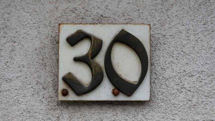 Forchheimer Hausnummern..16.12.20....Foto: Edgar Pfrogner