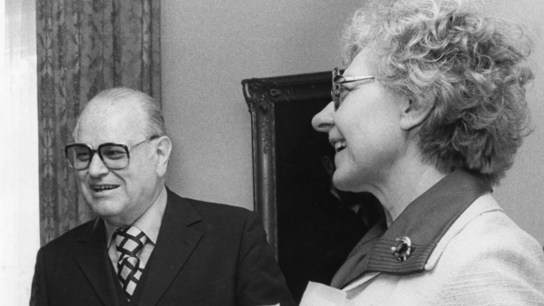 Shlomo Lewin und seine Lebensgefährtin Frida Poeschke setzten sich für die Zusammenarbeit der christlichen und jüdischen Religionen ein.