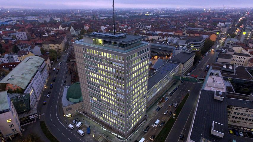 Die Nürnberger N-Ergie ist in Mittelfranken Arbeitgeber für 2549 Mitarbeiter. Der Energieanbieter will ab 2021 für Privatkunden nur noch Ökostrom anbieten.