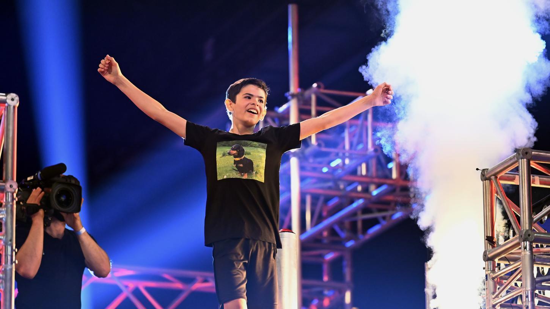 Wie ein Uhrwerk funktionierte Hannes in allen Runden der Ninja-Show - Platz vier am Ende war nur kurz eine Enttäuschung für den Zwölfjährigen aus Thuisbrunn.