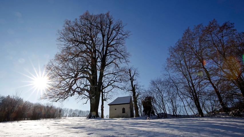 Winterland Fränkische Schweiz: Die schönsten Schneefotos