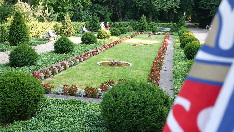 Ein kleiner Ort der Ruhe im Englischen Garten Berlins.