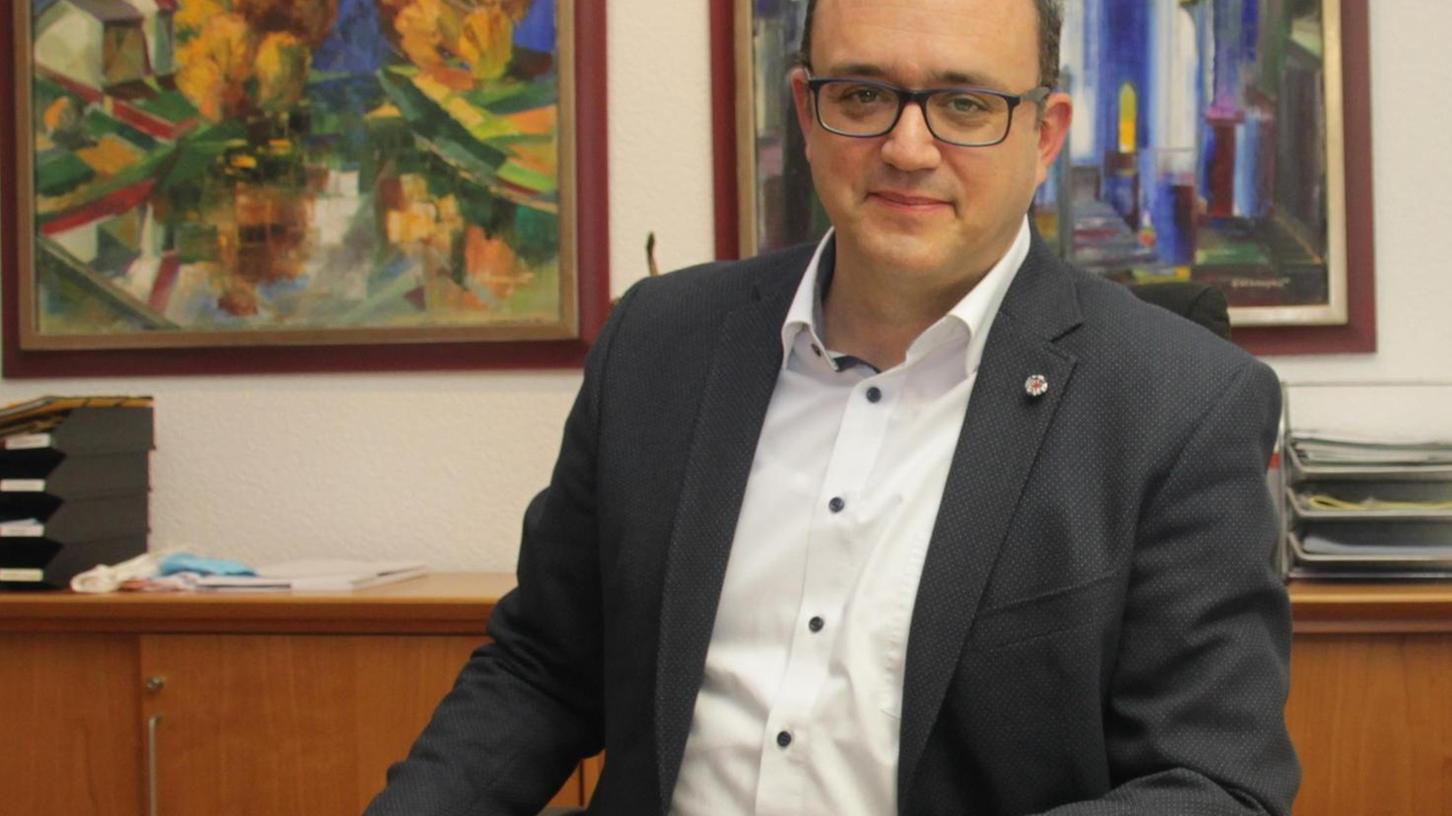Zog nach acht Monaten im Amt Bilanz: Landrat Manuel Westphal.