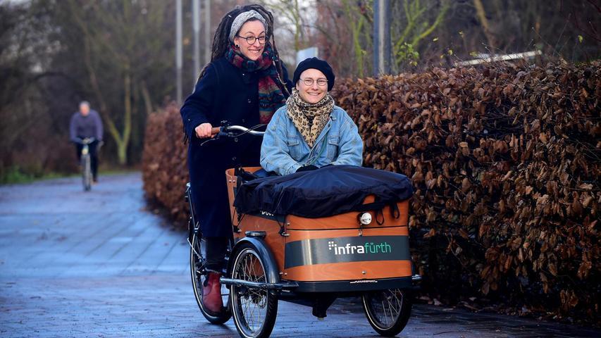 Mit dem Lastenrad zum Einkauf in Cadolzburg
