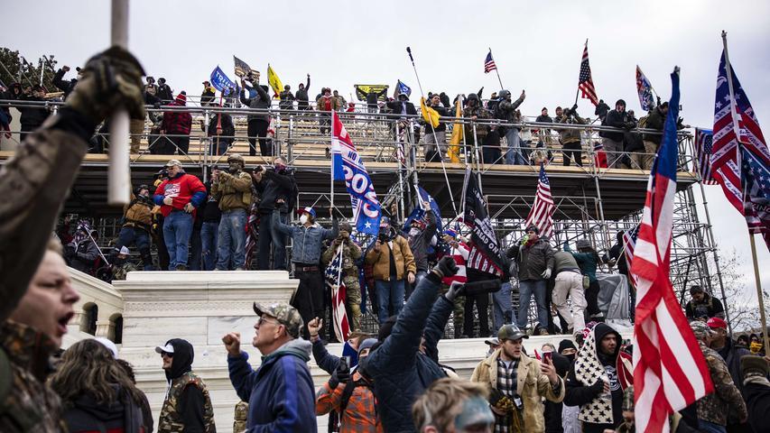 Chaos in Washington: Trump-Anhänger stürmen Kapitol