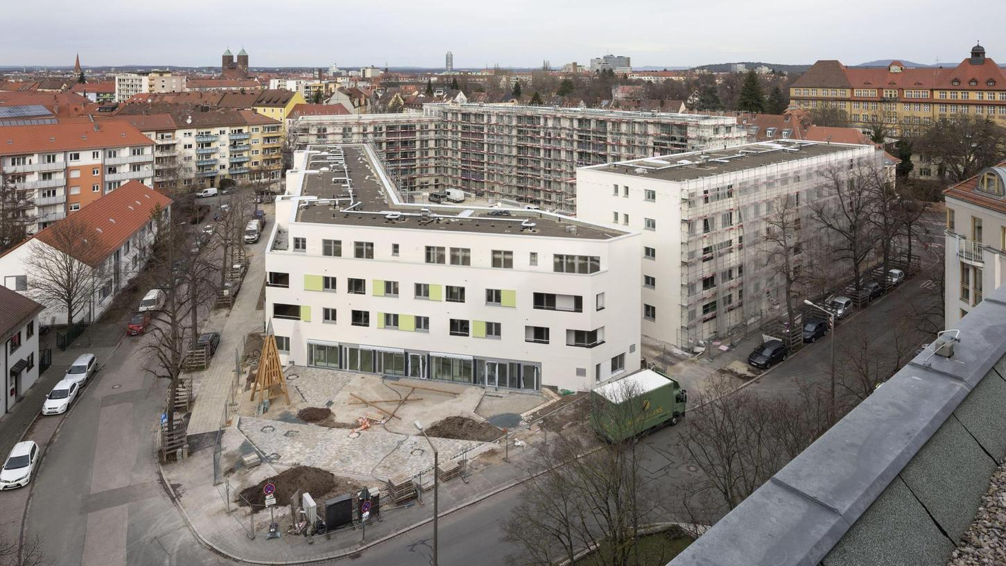 Wohnraum ist begehrt – ein Foto aus dem Jahr 2019, als die städtische wbg an der Pillenreuther Straße 133 Mietwohnungen baute.