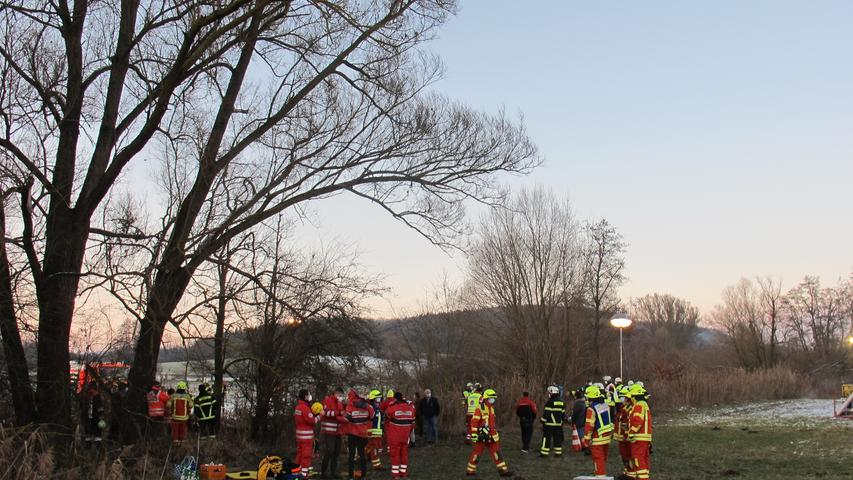 Fotos: Feuerwehr Greding Pferde ertrinken in Untermässing