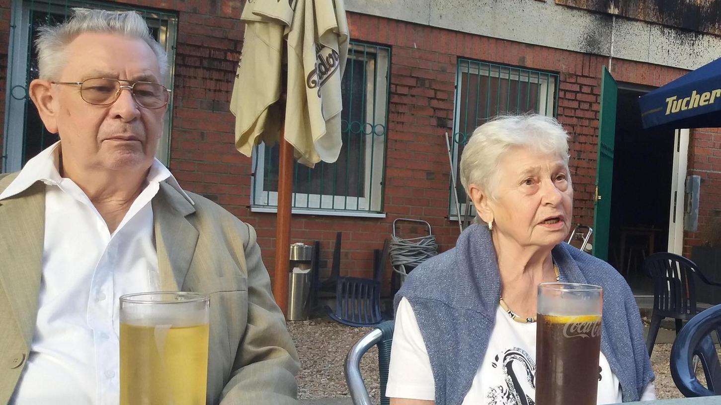 """""""Wir waren immer für den Verein da"""": Viktor (links) und Maria Sopp haben sich jahrzehntelang für den Sport in Langwasser eingesetzt."""