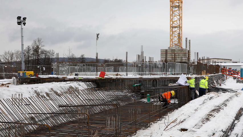 Siemens-Erweiterung in Forchheim-Süd, An der Lände Ecke Hafenstrasse: Bauarbeiten für den Ausbau des Standorts von Siemens Healthineers..13.01.21 ....Foto: Edgar Pfrogner