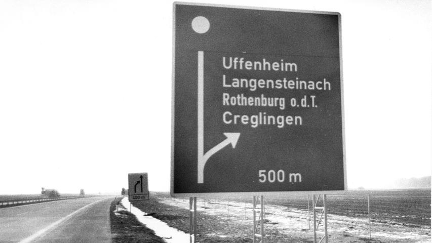 Bei Langensteinach war jahrelang die Autobahn eine Sackgasse.