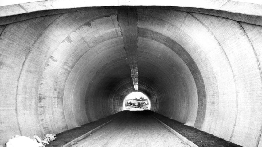 Dieser Tunnel wurde während der Bauarbeiten bei Urphershofen errichtet.