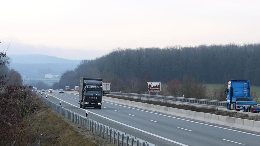 Laster nutzen die Nord-Süd-Verbindung durch die Bundesrepublik.