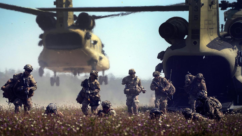 US-Streitkräfte beim Manöver Saber Junction 2020 in Hohenfels.