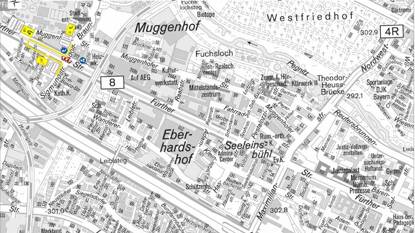 Zudem werden Umleitungen Richtung Centrum und Sigmundstraße ausgeschildert.