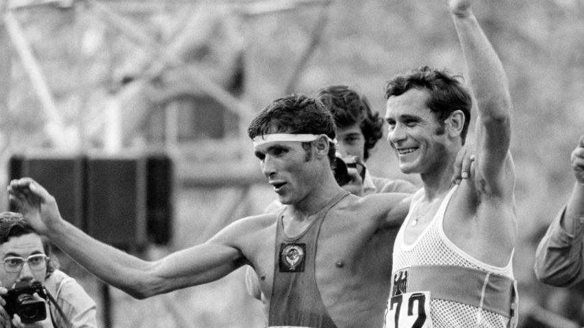 Der FürtherBernd Kannenberg (rechts) gewann bei den Olympischen Spielen 1972 in München die Goldmedaille in der Disziplin