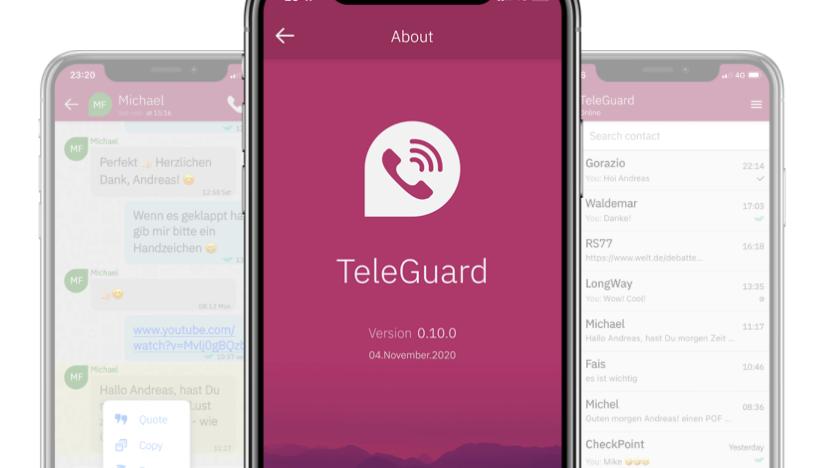 Erste Eindrücke des neuen Messengers: So sieht TeleGuard aus.