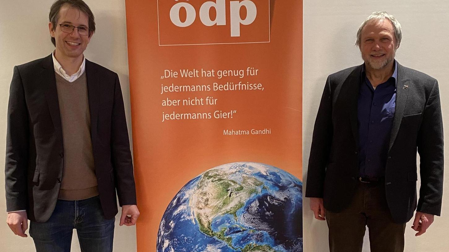 Sie wollen für die ÖDP in den Bundestag: Kilian Welser (links) als Direktkandidat und Günther Brendle-Behnisch über die Landesliste.