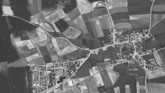 Von oben: So hat Oberreichenbach im Jahr 1966 ausgesehen