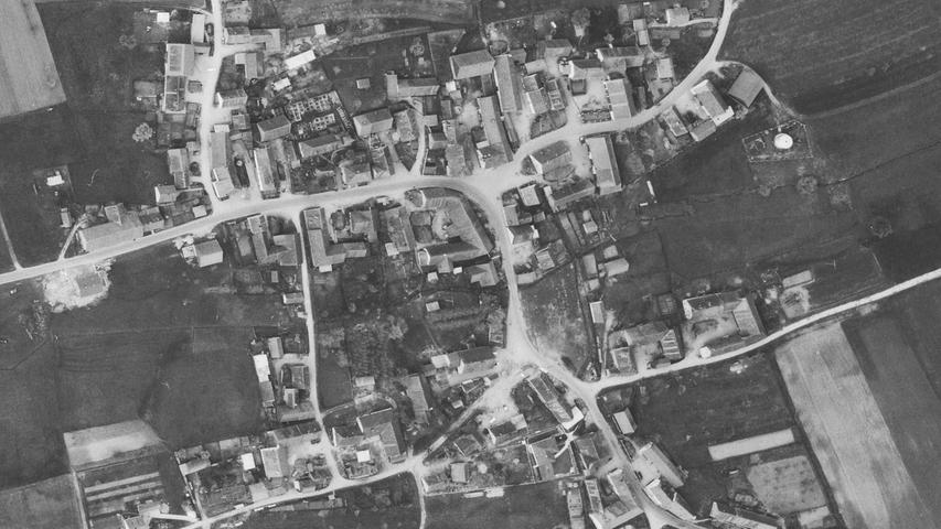 Der Ortskern 1966