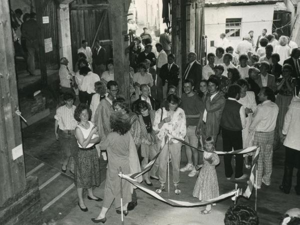 """Die ehemalige """"Czernohaus""""-Scheune, auch """"Kunststadel"""" genannt, war der erste Ausstellungsort des Kunstvereins"""