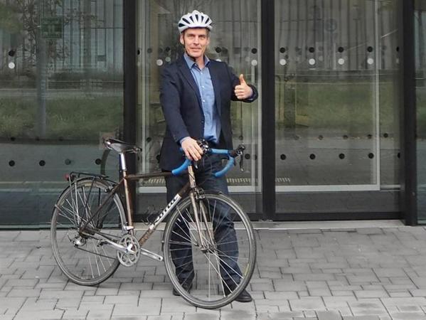 """""""Für mich ist das Fahrrad beruflich wie privat schon immer das Verkehrsmittel der ersten Wahl gewesen"""", sagt der Radverkehrsbeauftragte für Erlangen-Höchstadt, Albrecht Gradmann."""