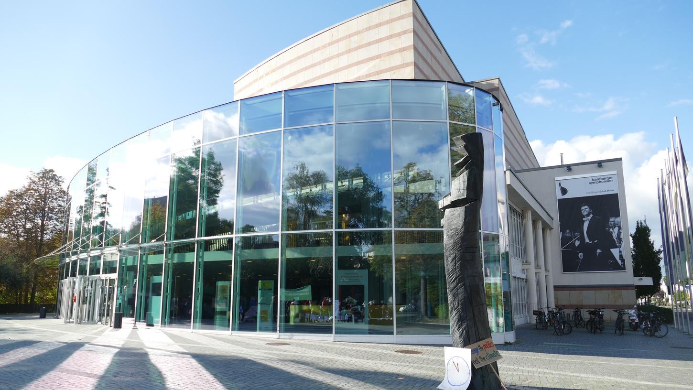 Wegen der Coronapandemie finden Ausschuss- und Stadtratssitzungen im Bamberger Hegelsaal statt. Hier die anliegende Konzerthalle.