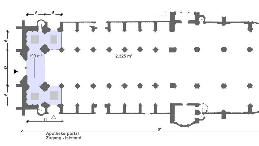 Der Entwurf macht deutlich, dass der geplante U-förmige Einbau die Optik im Inneren des Gotteshauses deutlich verändern würde.